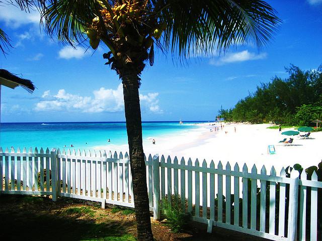 Pláž na Barbadose