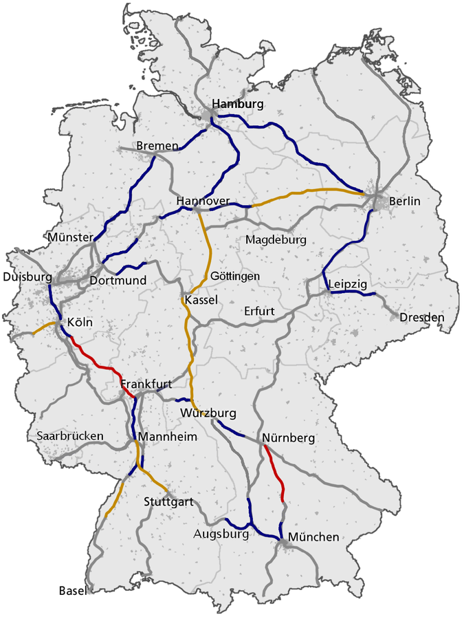 ICE mapa